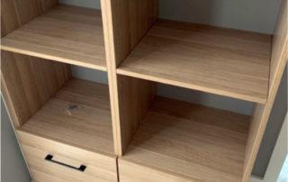 wardrobe wood finish